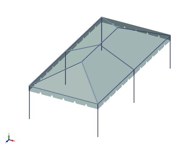 15x30 1-Piece 16oz. Basic Frame Tent Set - Allstate Tent