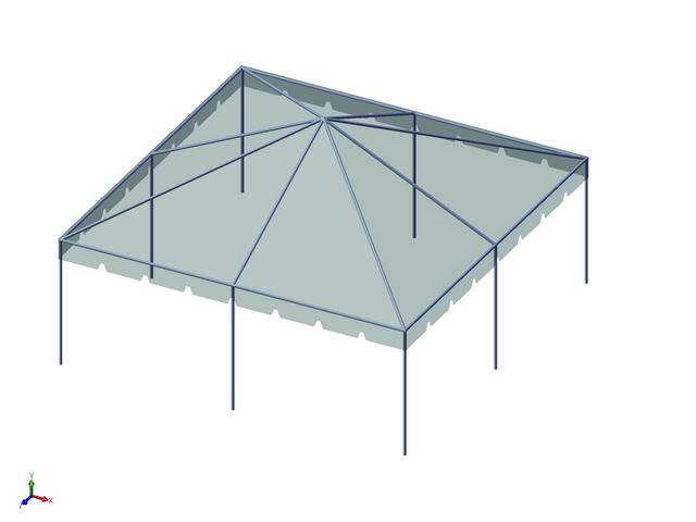 Premium Frame Tent Set  sc 1 st  Allstate Tent & 20x20 1-Piece 16oz. Premium Frame Tent Set - Allstate Tent