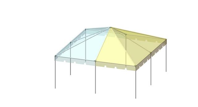 20x20 2-Piece 16oz. Expandable Premium Frame Tent Set - Allstate Tent