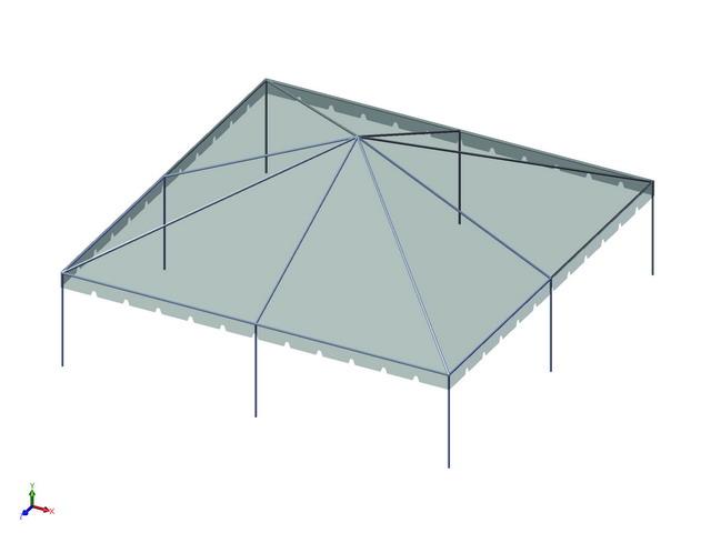 30x30 1-Piece 16oz. Ultimate Frame Tent Set - Allstate Tent