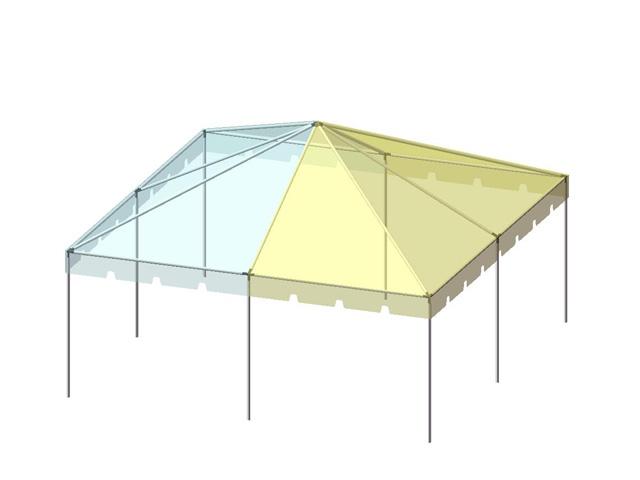 20x20 2-Piece 16oz. Expandable Ultimate Frame Tent Set - Allstate Tent